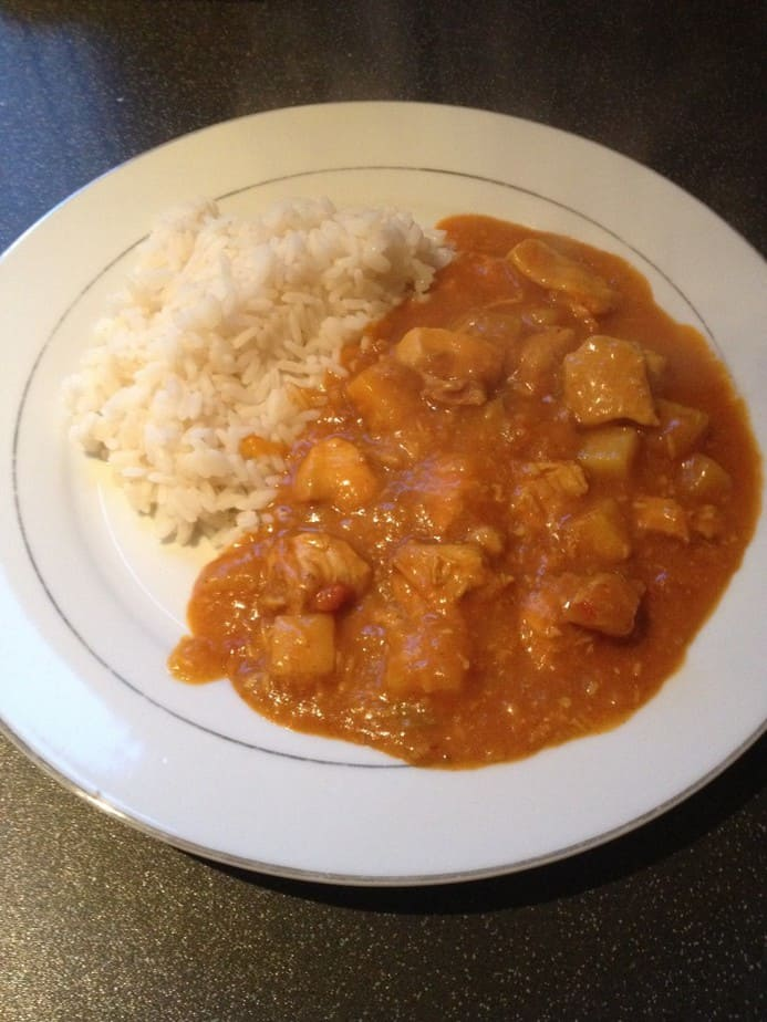 Chicken curry. Lovely!
