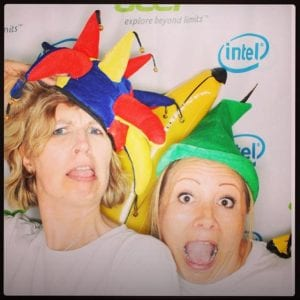 Me and Jaime from The Olivers Madhouse messing around in the photo booth last year!