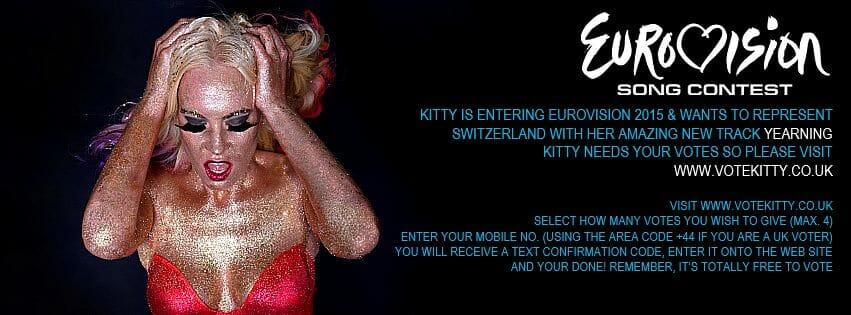 Vote Kitty Brucknell for Eurovision.