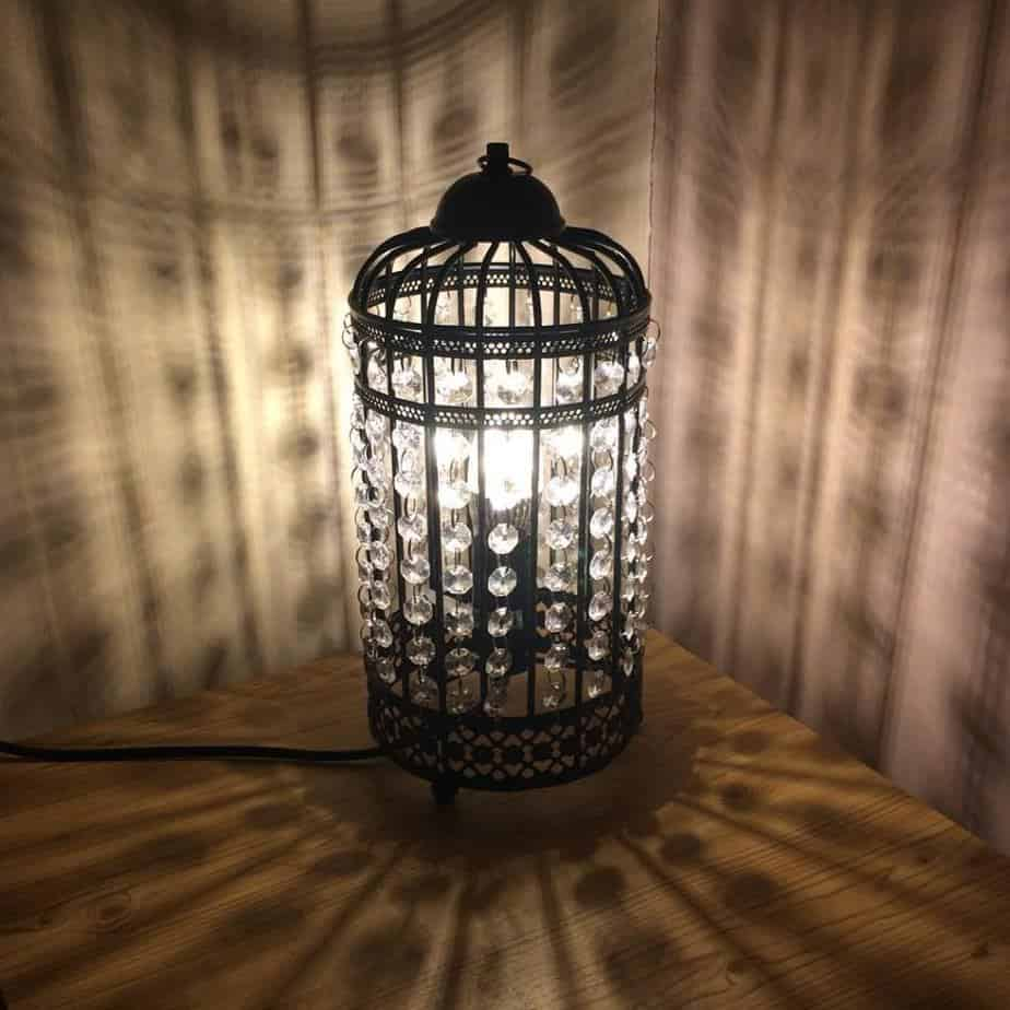 Vintage Birdcage Table Lamps from Valuelights
