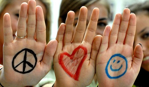 Symbols on childrens hands