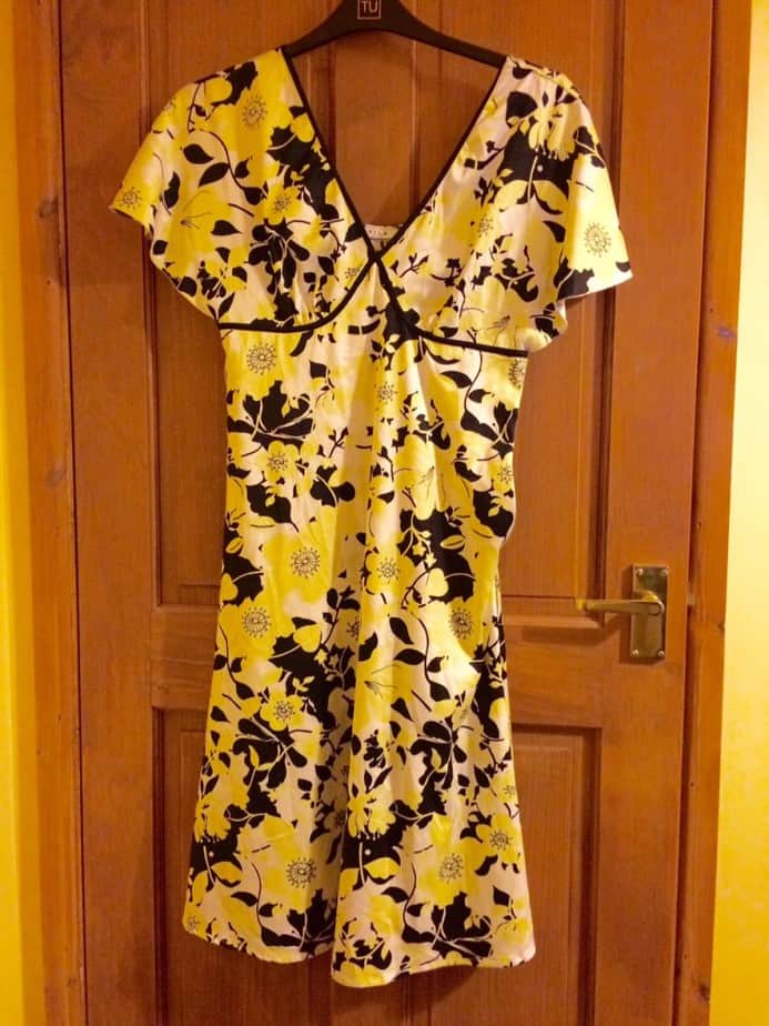 Yellow and Black Dress from Vila