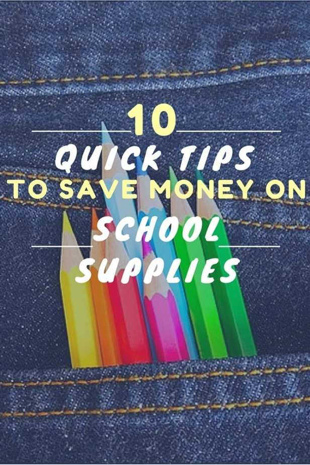10 Quick Tips to Save Money on School Supplies