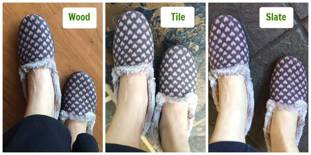 Hotter Slippers on different floors
