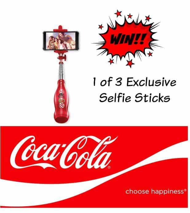 WIN! 1 of 3 Exclusive Coca Cola Selfie Sticks #choosehappiness
