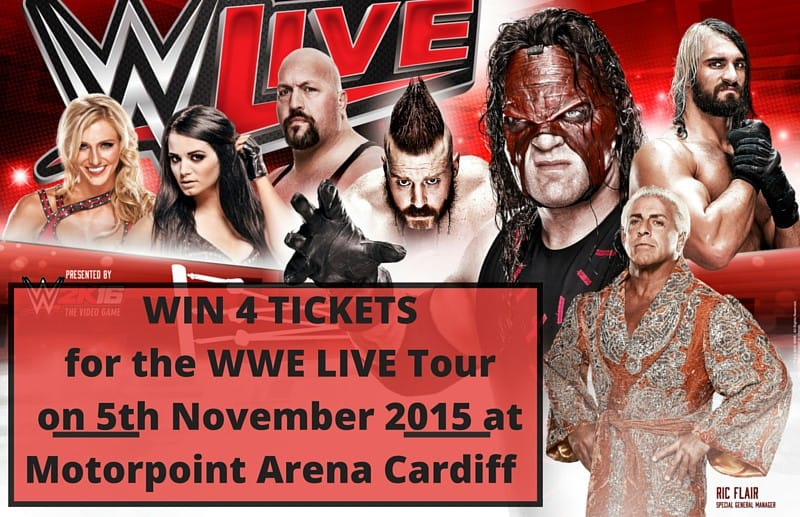 WIN 4 Tickets to for the WWE LIVE Tour on 5th November 2015 at Motorpoint Arena Cardiff PLUS 2 Goody Bags