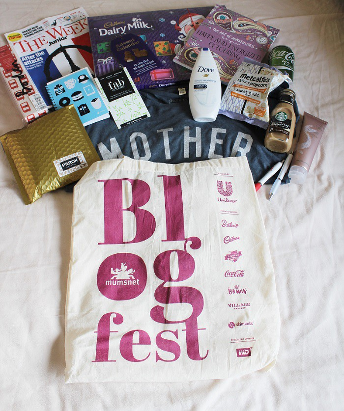 Blogfest 2015 Goody bag