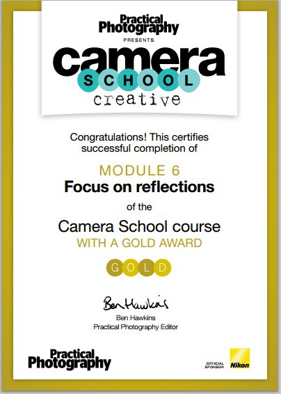 Camera School Creatives Focus on Reflections Certificate