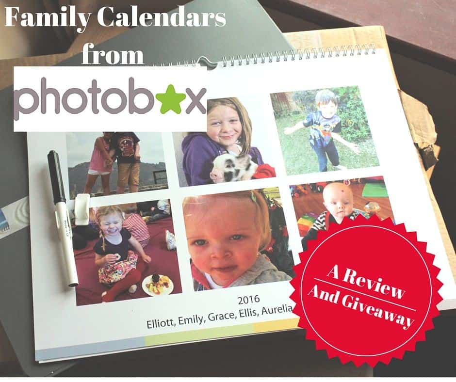 Family Calendars from Photobox. A Review and Giveaway