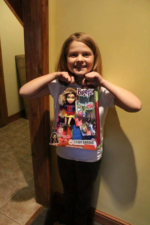 Grace with her Jade Bratz Doll