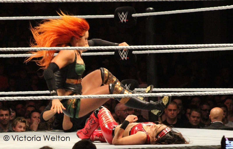 WWE Cardiff November 2015 Becky Lynch and Bree Bella