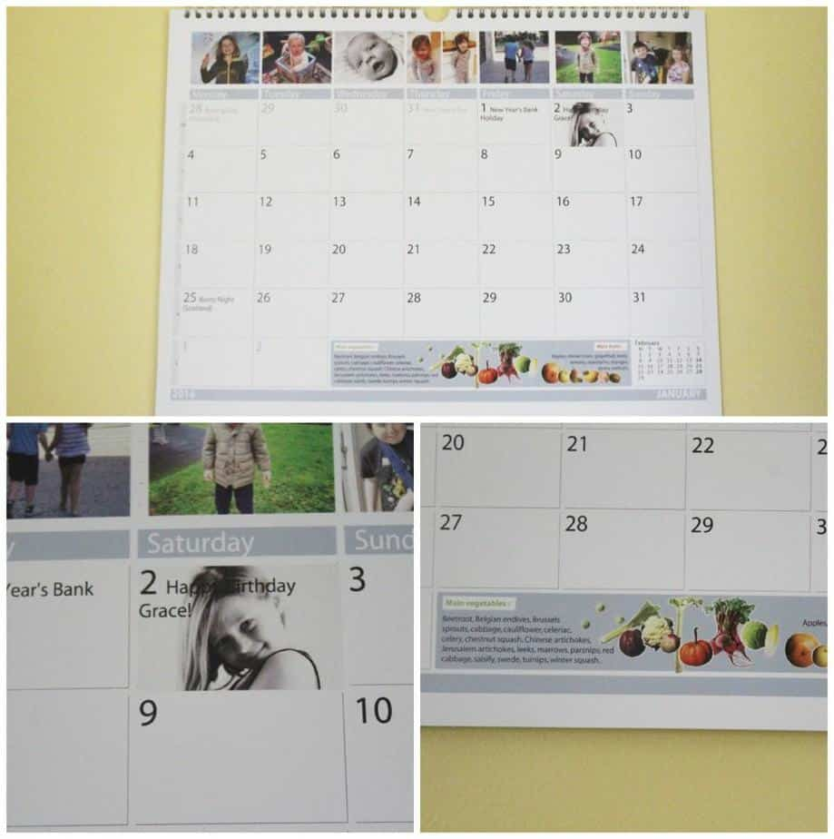 Photobox Family Calendar 1