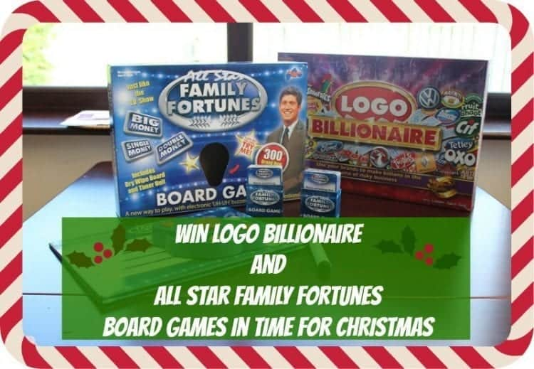 WIN LOGO Billionaire and All Star Family Fortunes Games from