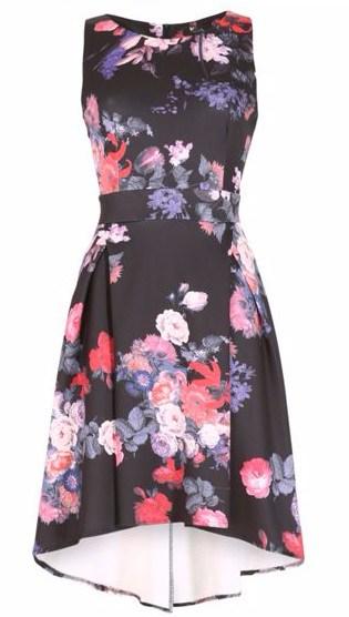 Cutie Floral High-Low A-Line Dress