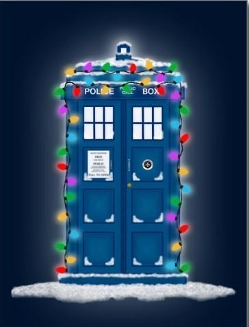 TARDIS Christmas card