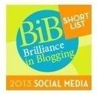 BiBs Social Media Shortlist 2013