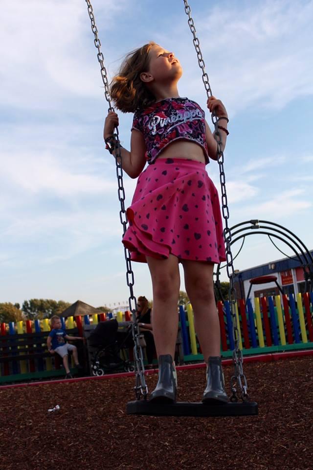 Grace on a swing