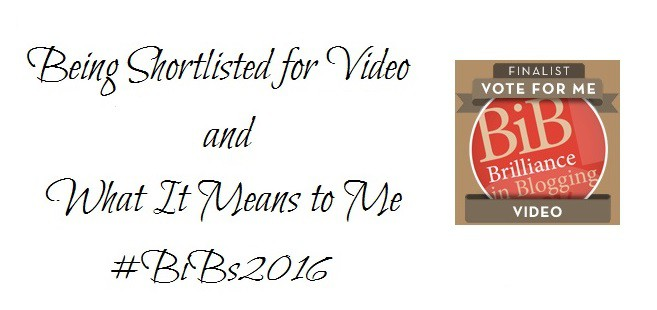 Being Shortlisted for Video and What It Means to Me #BiBs2016