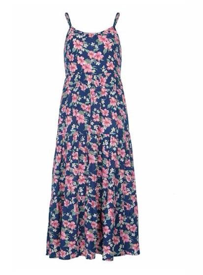 Yumi Girls Girls Ditsy Floral Print Maxi Dress