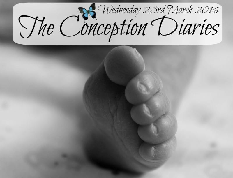 The Conception Diaries #21 Wednesday 23rd March 2016