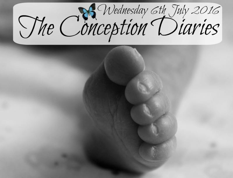 The Conception Diaries #25 – Wednesday 6th July 2016