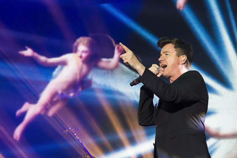 Rick Astley has Angels on his Side at Rewind Festival South