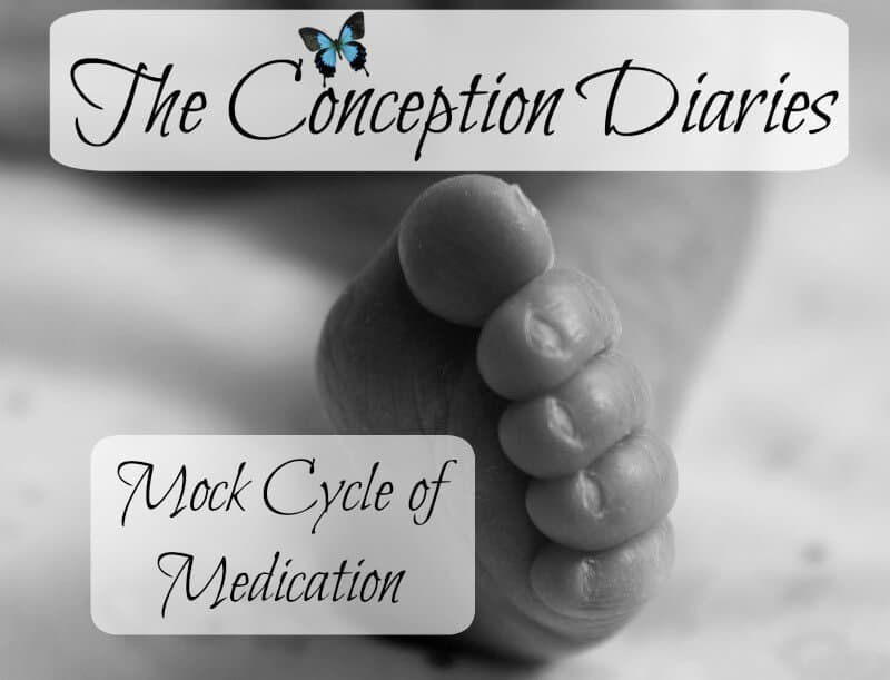 The Conception Diaries #28 – Mock Cycle of Medication