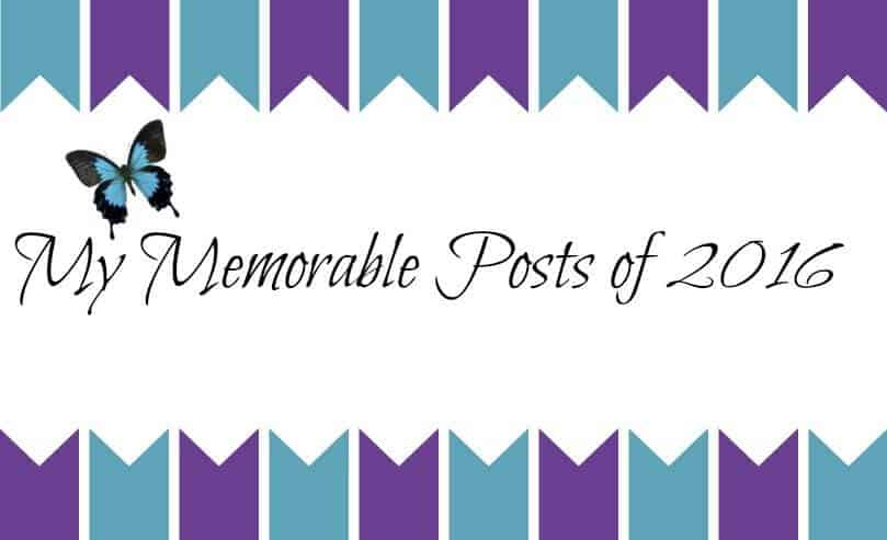 My Memorable Posts of 2016