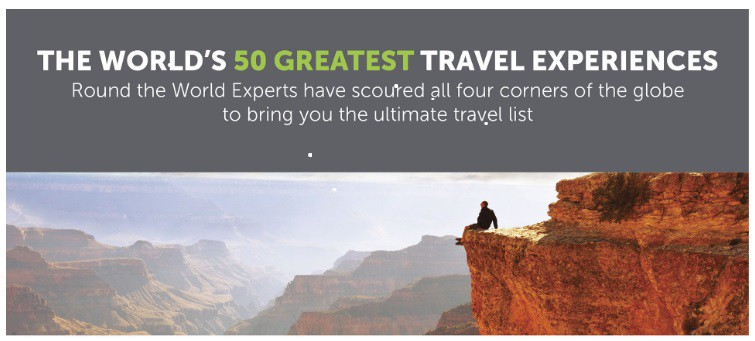 The World's 50 Greatest Travel Experiences