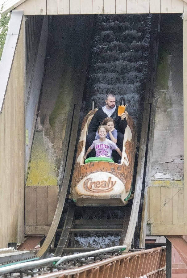Probably the Best Log Flume Photo Ever?