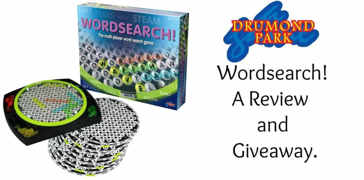 Drumond Park Wordsearch Game. A Review and Giveaway.