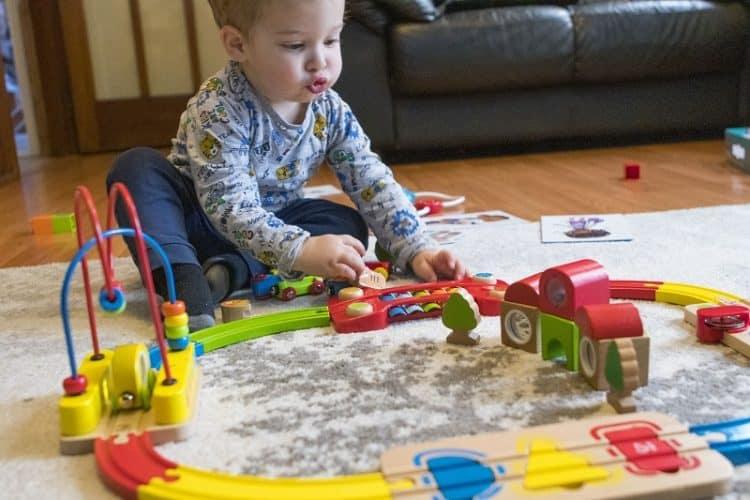 Hape Rainbow Puzzle Wooden Train Sets Review Verily
